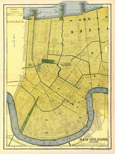 1903 New Orleans Map
